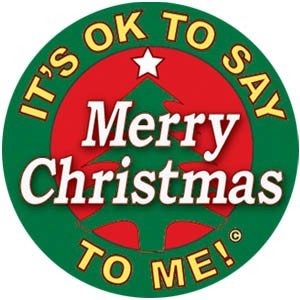 It's Okay To Say Merry Christmas Button | Decorating Ideas