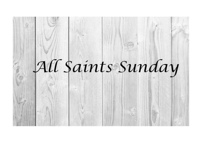 All Saints Sunday Graphic